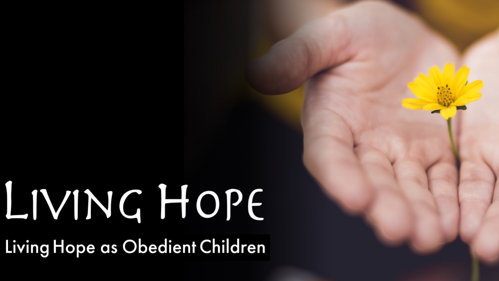 Living Hope as Obedient Children Image